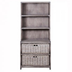 Cabinet with Baskets -  Petite -  Old Grey
