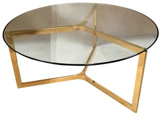 Coffee Table SS Gold Round