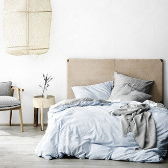 Sine Duvet Cover - Cloud Blue