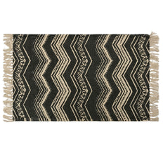 Zigzag Printed Cotton Rug