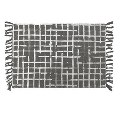Grid Cotton/Printed Foil Rug