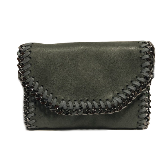 The Mini Moto Wristlet- Seal Gray