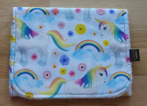 Unicorns Burp Cloth - large