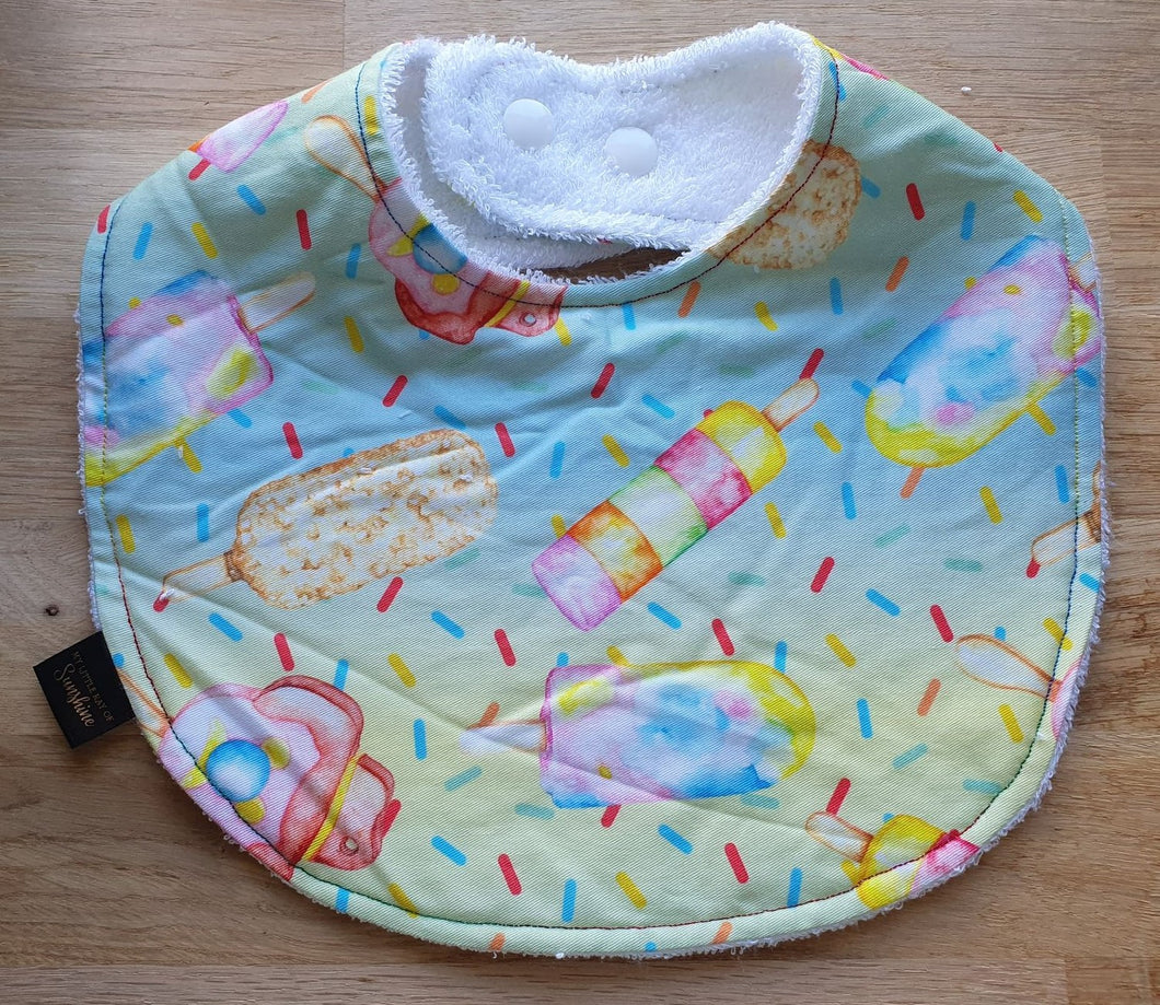 Rainbow Ice Cream Bib