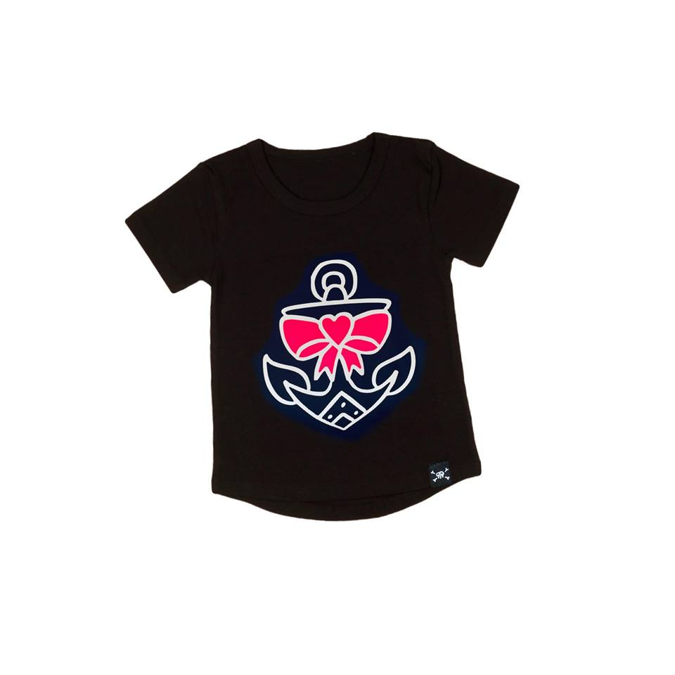 RLP Bow Anchor Tee - Pink - Sz 3
