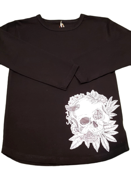 SmatDacks Blushing Skulls Tee Black - Size 5