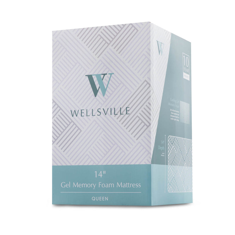 "Wellsville 14"" CarbonCool™ Memory Foam Mattress can easily be shipped"