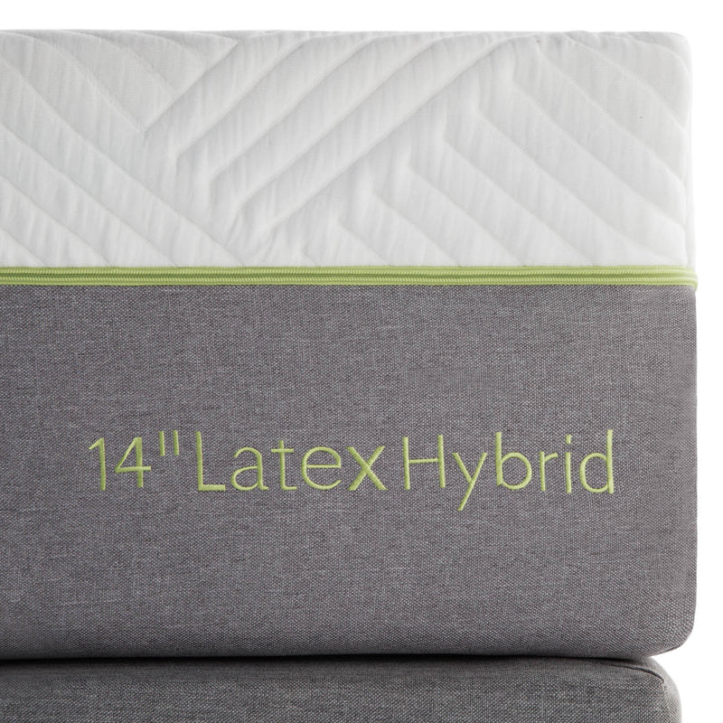 "14"" Organic latex mattress has a removable, washable and hypo-allergenic cover"