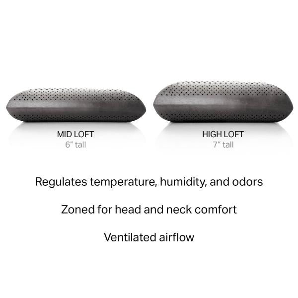 Zoned Dough® + Bamboo Charcoal Pillow - Shop Wellsville Mattresses, pillows, bedding & bedroom accessories