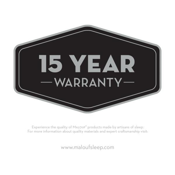 PR1ME® Terry Cloth Mattress Protector has a 15 year warranty