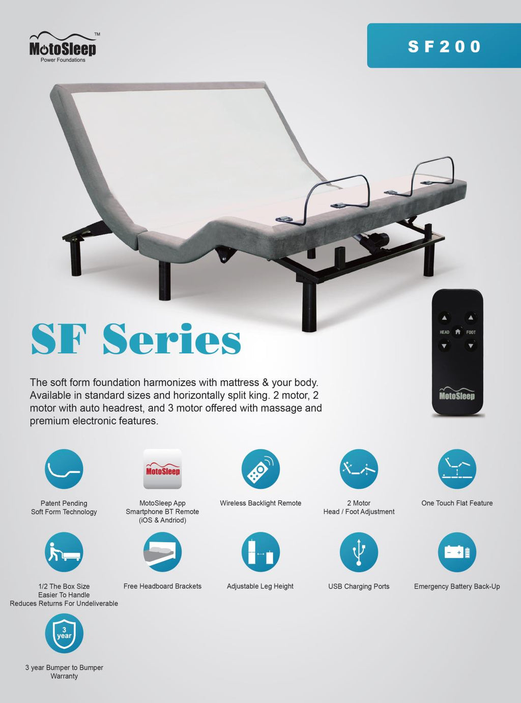Solstice SF100 Power Base - Shop Wellsville Mattresses, pillows, bedding & bedroom accessories
