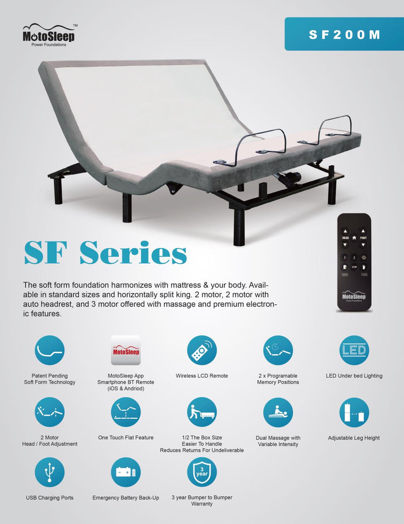 Solstice SF200M Power Base - Shop Wellsville Mattresses, pillows, bedding & bedroom accessories