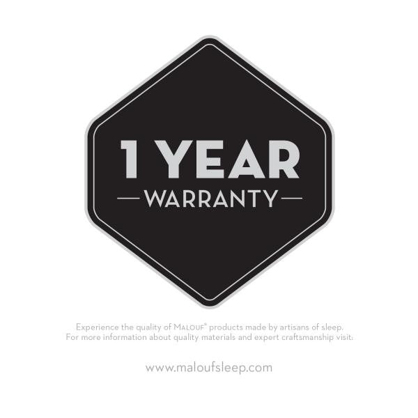 caster wheels for bed frame has a 1 year warranty