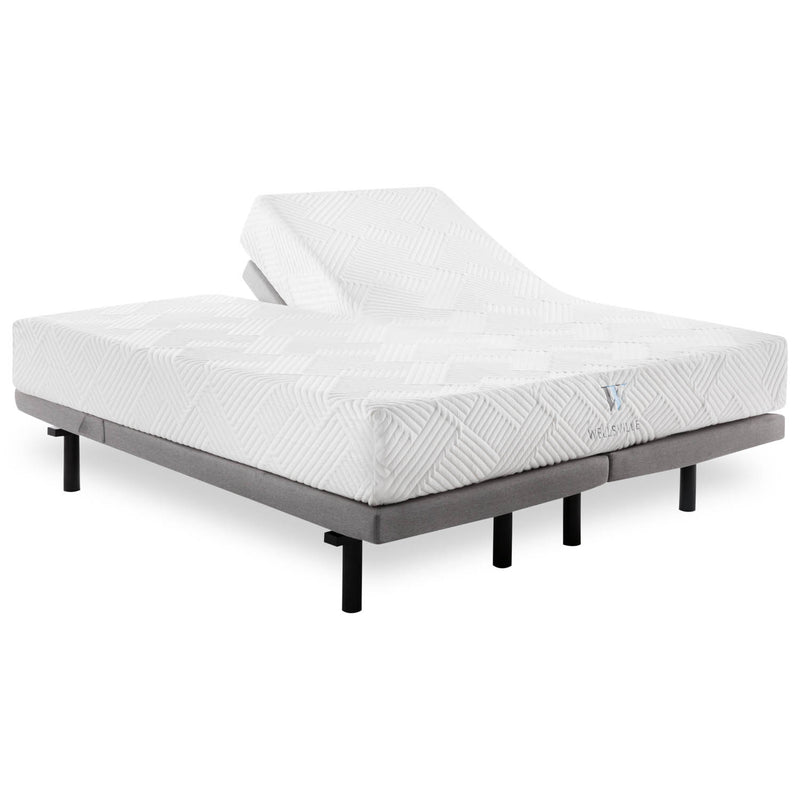 "14"" organic latex hybrid mattress is available in split king and queen sets"