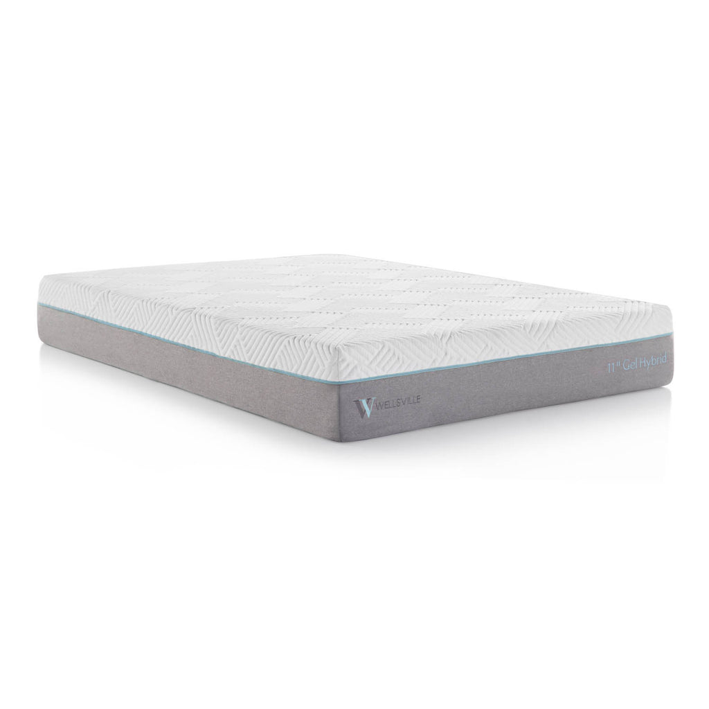 Wellsville 11in Gel Memory Foam Hybrid Mattress
