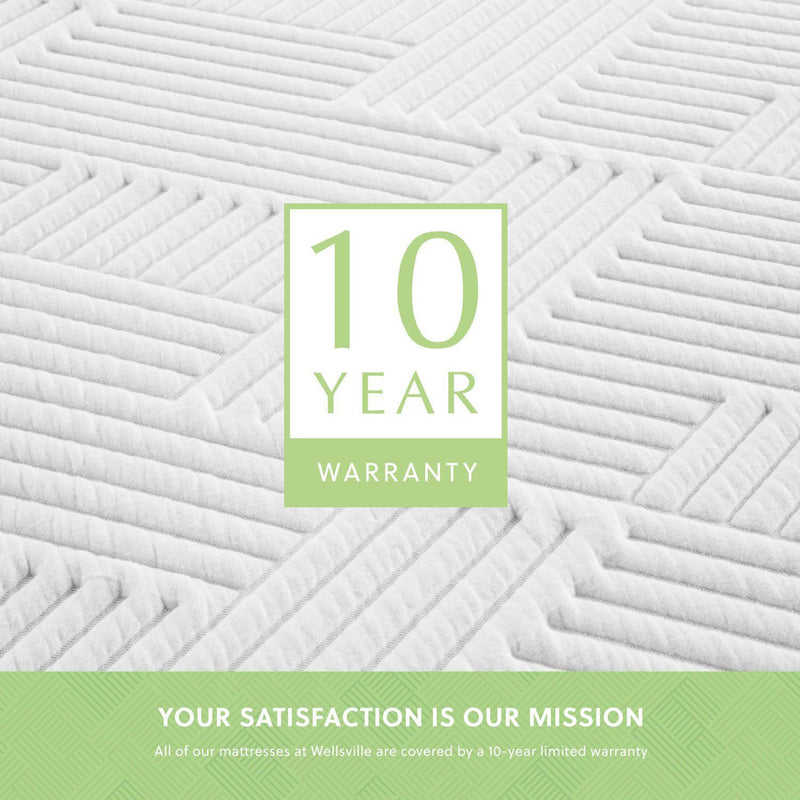 "14"" organic latex mattress has a 10 year non prorated warranty"