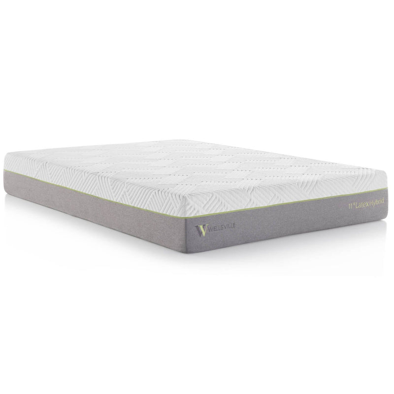 "11"" Organic latex hybrid mattress in queen size"