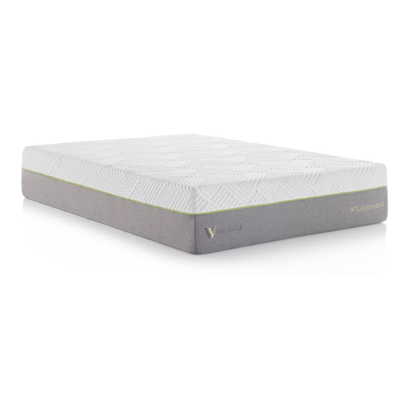 "14"" Organic latex hybrid mattress in queen size"