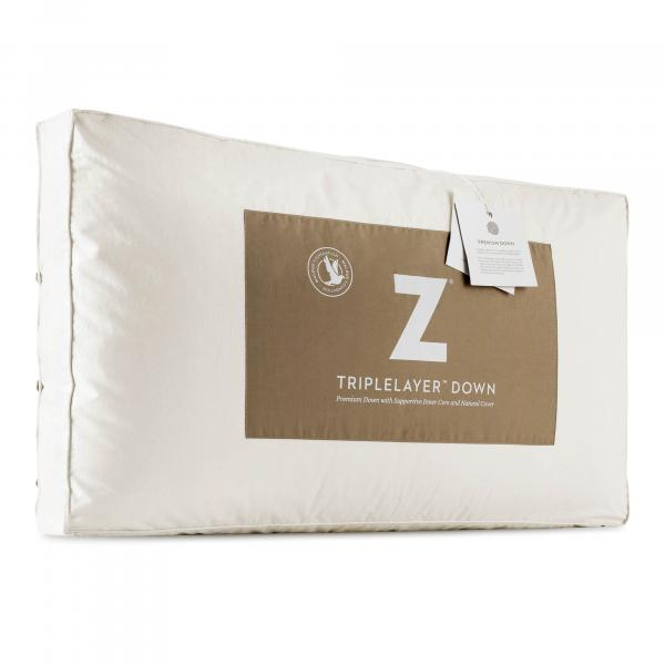 Z™ TRIPLELAYER™ Down Pillow - Shop Wellsville Mattresses, pillows, bedding & bedroom accessories