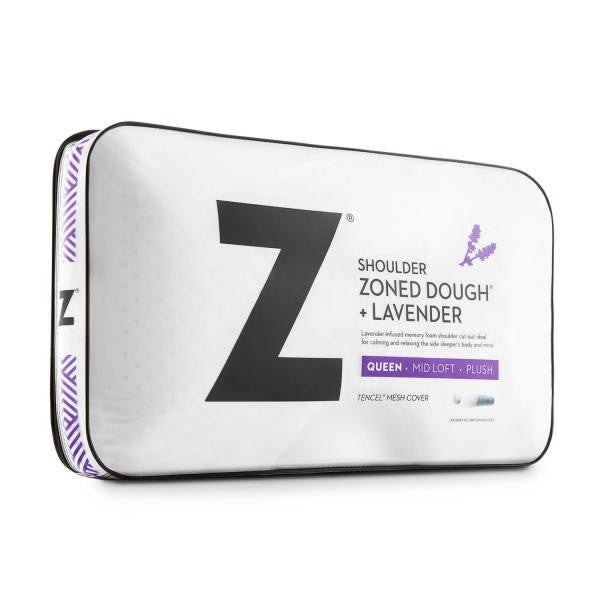 Shoulder Zoned Dough® Lavender Pillow - Shop Wellsville Mattresses, pillows, bedding & bedroom accessories