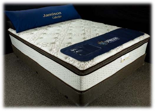 Jamison The Latex Collection hybrid mattress with coil spring bottom and latex top in Pillowtop