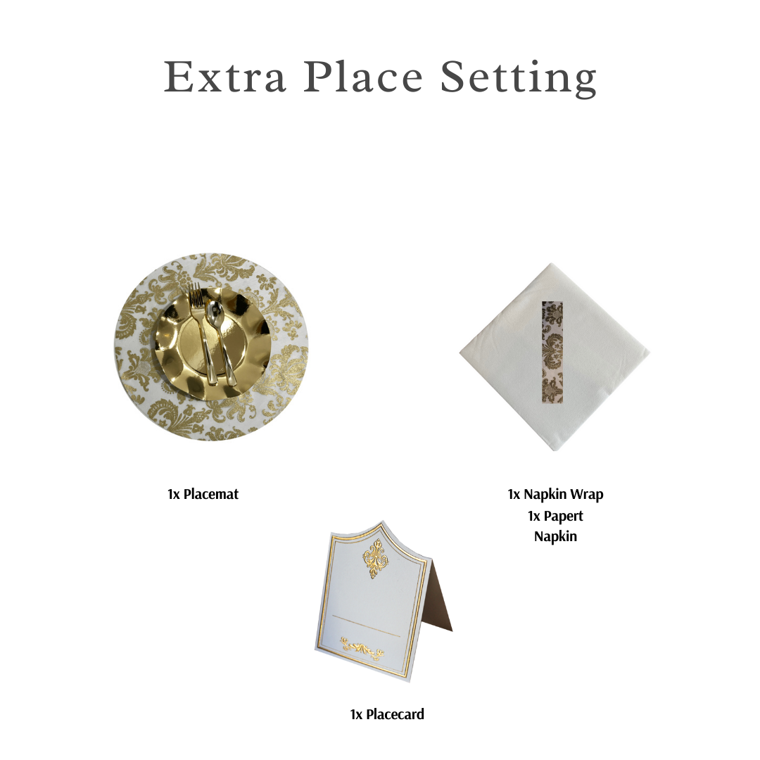 Single Place Setting (Royale Round Design Gold)PC - Place Matters