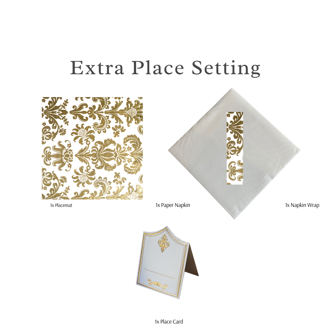 Single Place Setting (Royale Square Design Gold)PC - Place Matters