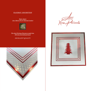 Christmas Table Setting Pack (Anni Xmas) Red - Place Matters