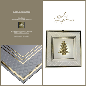 Christmas Table Setting Pack (Anni Xmas) Gold - Place Matters