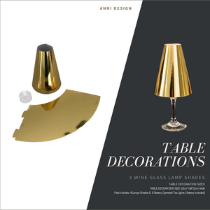 Christmas Table Setting Pack (Anni Xmas) Gold