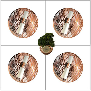 Silver Placemats (Weave) Pack of 20 (Round) - Place Matters