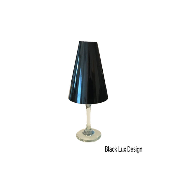 Black Wine Glass Lamp Shades (Pack of 6) - Place Matters