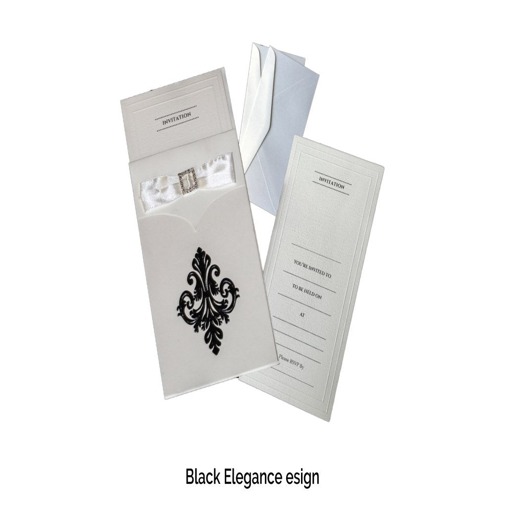 Black Invitations(Pack of 20) - Place Matters