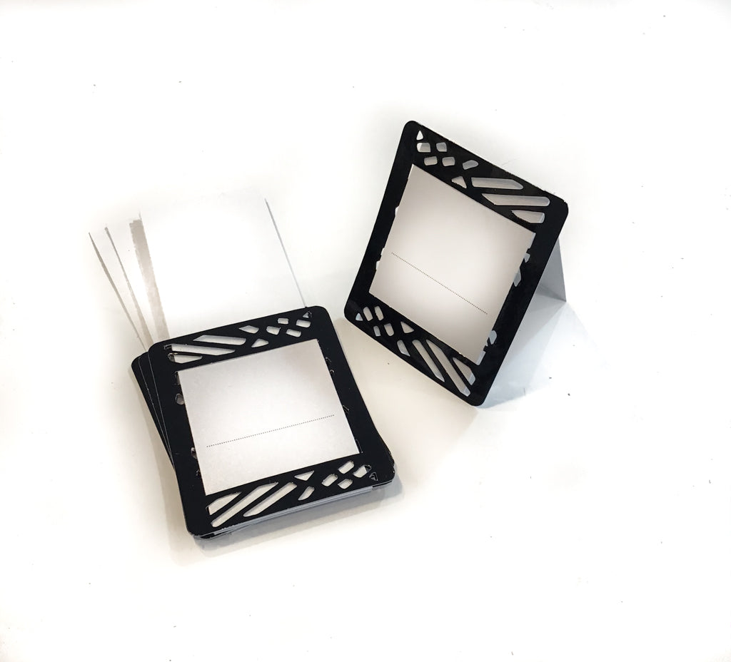 Black Place Cards (Pack of 20) (Weave) - Place Matters