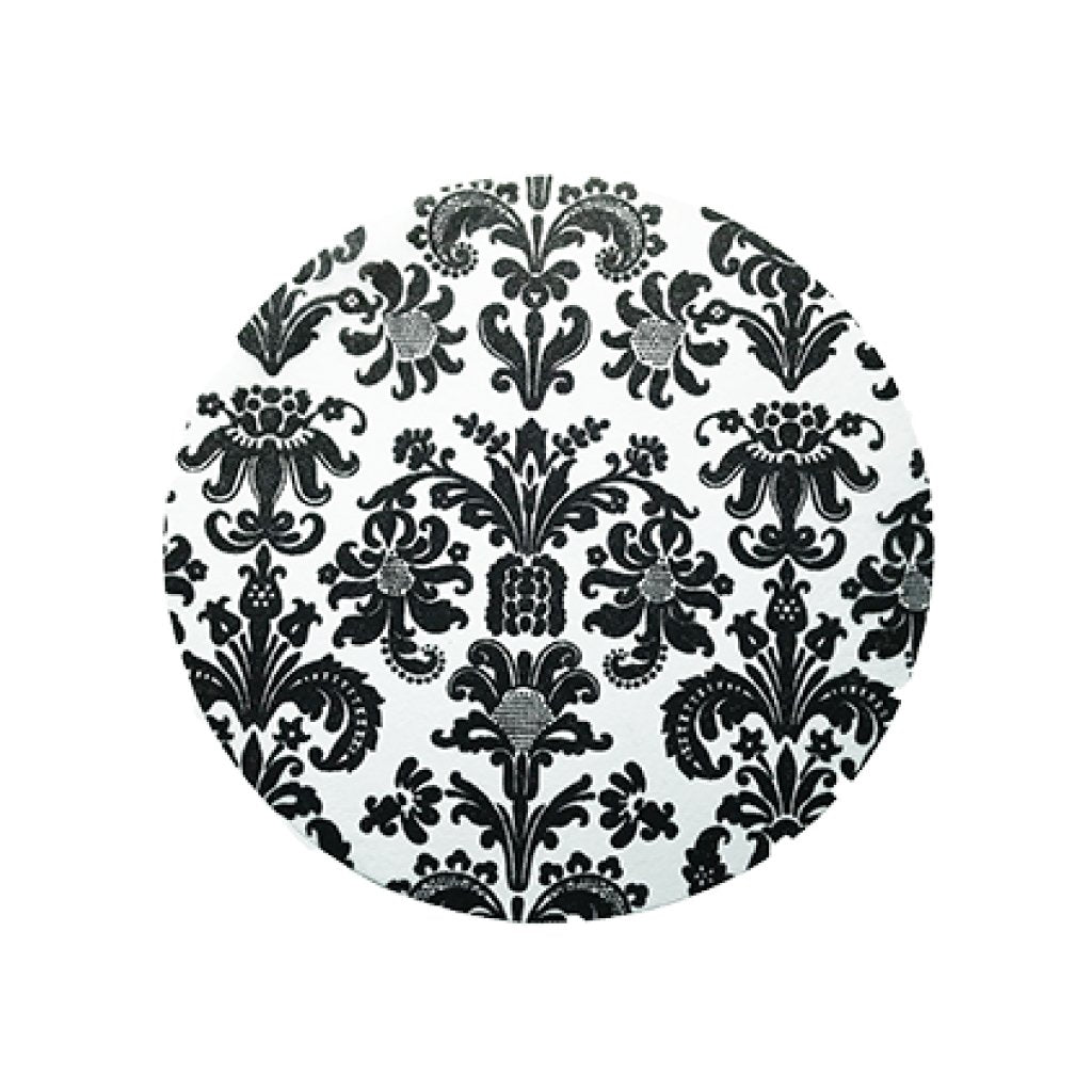Black Placemats Elegance (Round) - Place Matters