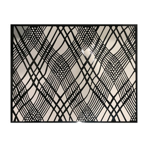 Black Placemats (Weave) Pack of 20 (Rectangle) - Place Matters