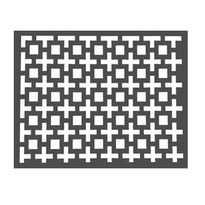 Charcoal Placemats Amazing Squares (Rectangle) - Place Matters
