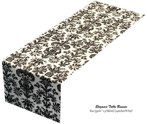 Black Table Runner