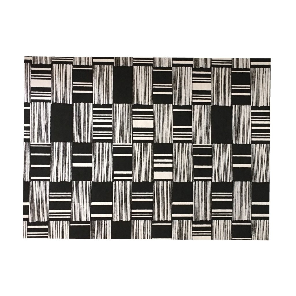 White- Black Placemats (Bricks) Pack of 20 - Place Matters