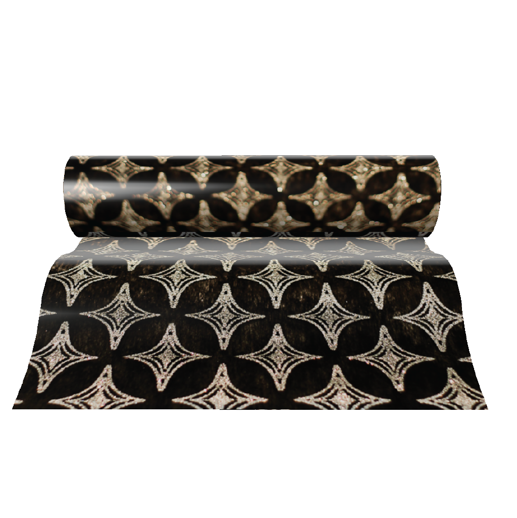 Black Table Runners (Diamonds Design) - Place Matters