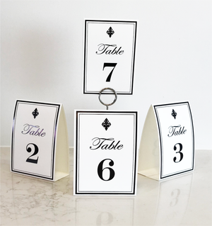 Black Table Numbers (Pack of 12) - Place Matters