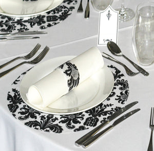 Black Placemats (Royale) Pack of 20 (Round) - Place Matters