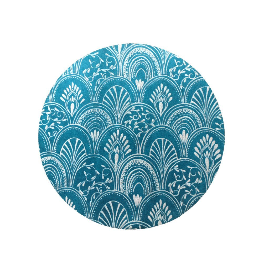 Teal Placemats (Milano) Pack of 20 (Round) - Place Matters