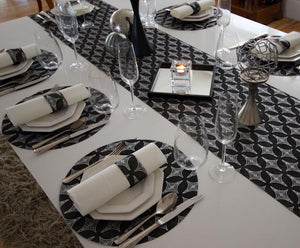 Black Placemats (Diamonds) Pack of 20 - Place Matters