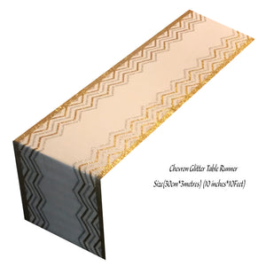 Chevron Table Runners (Gold) - Place Matters
