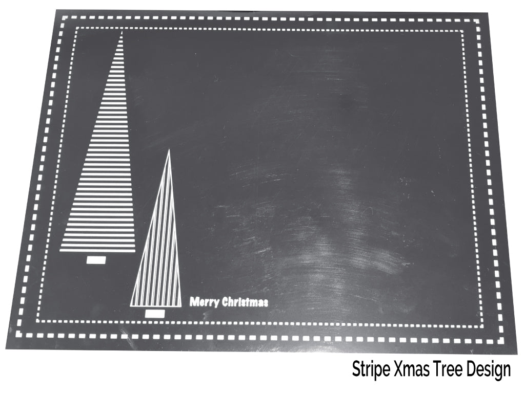 Silver Christmas Placemats Pack of 20 (Stripe Xmas Tree) - Place Matters