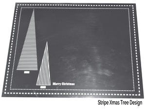 Silver Christmas Placemats Pack of 20 (Foil Stripe) - Place Matters