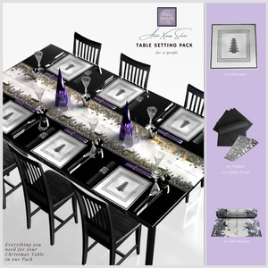 Christmas Table Setting Pack (Anni Xmas) Silver - Place Matters