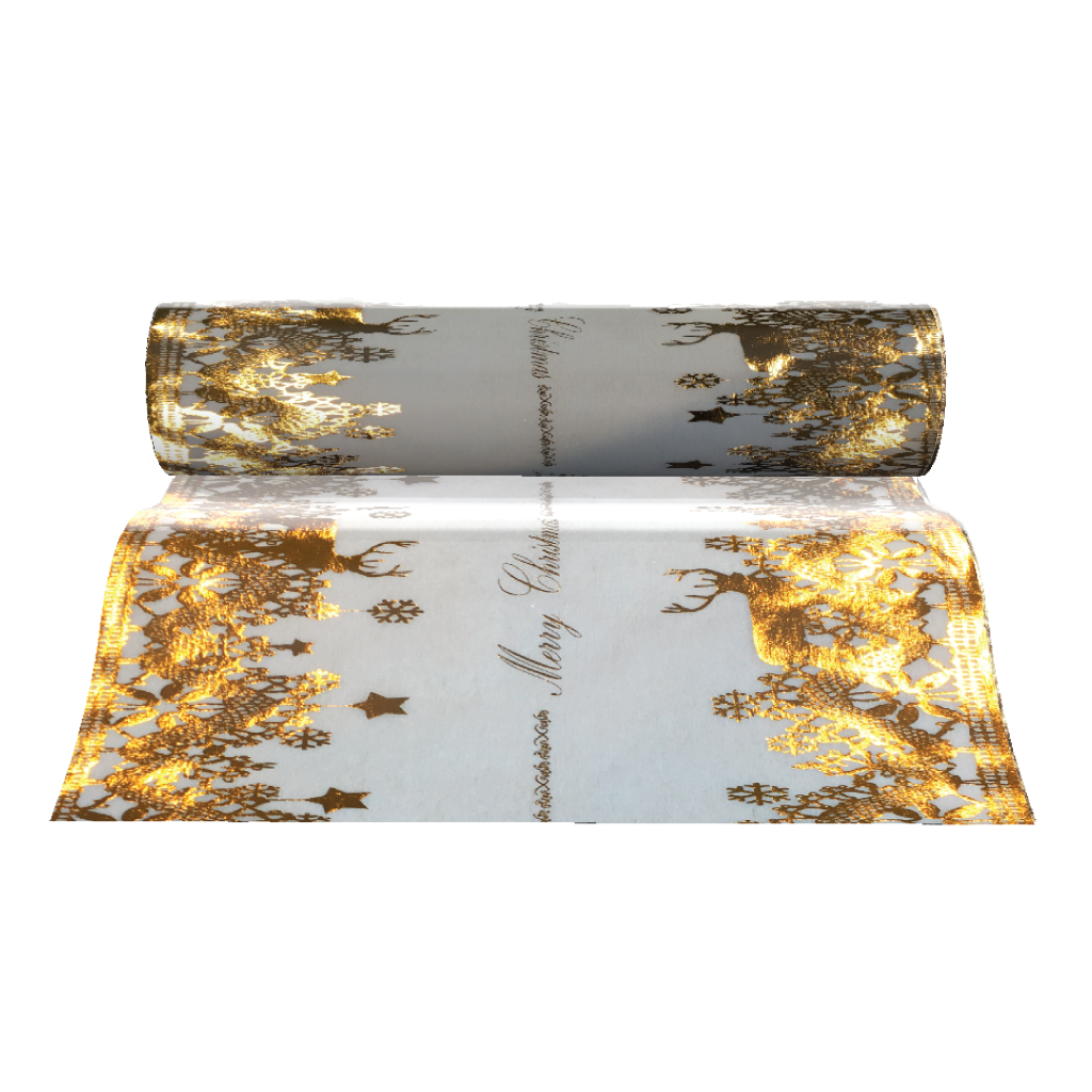 Christmas Table Runners (Gold Reindeer Design) - Place Matters