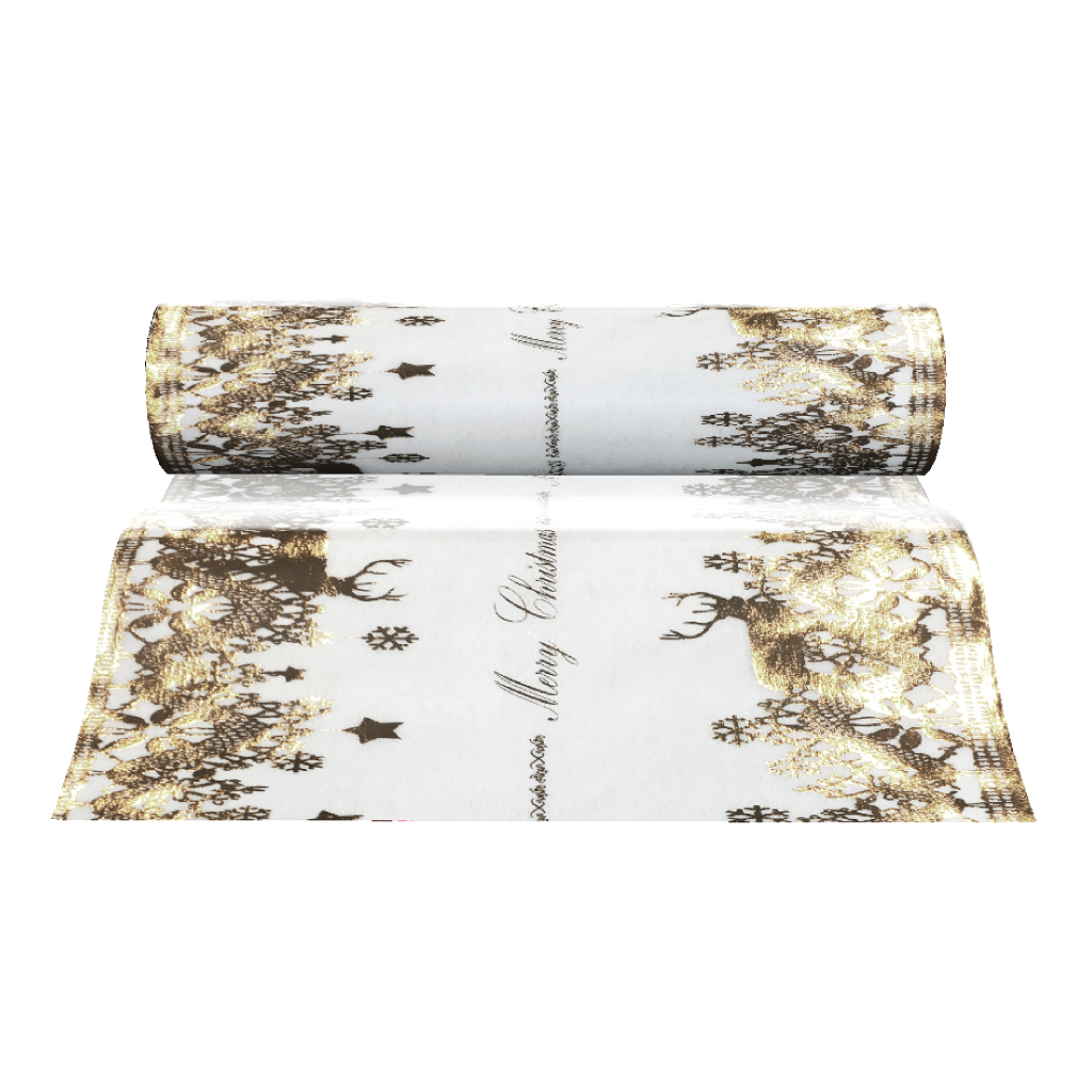 Christmas Table Runners (Silver Reindeer Design) - Place Matters